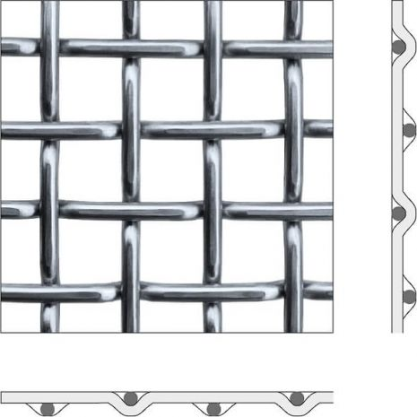 CRIMPED WIRE MESH FORM E