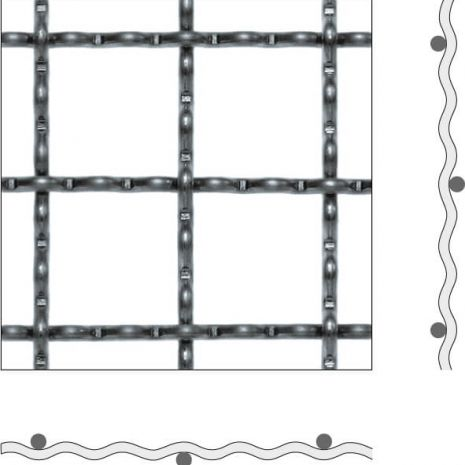 WAVE GRID WIRE MESH FORM C